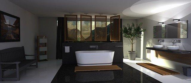 návrh luxusní koupelny